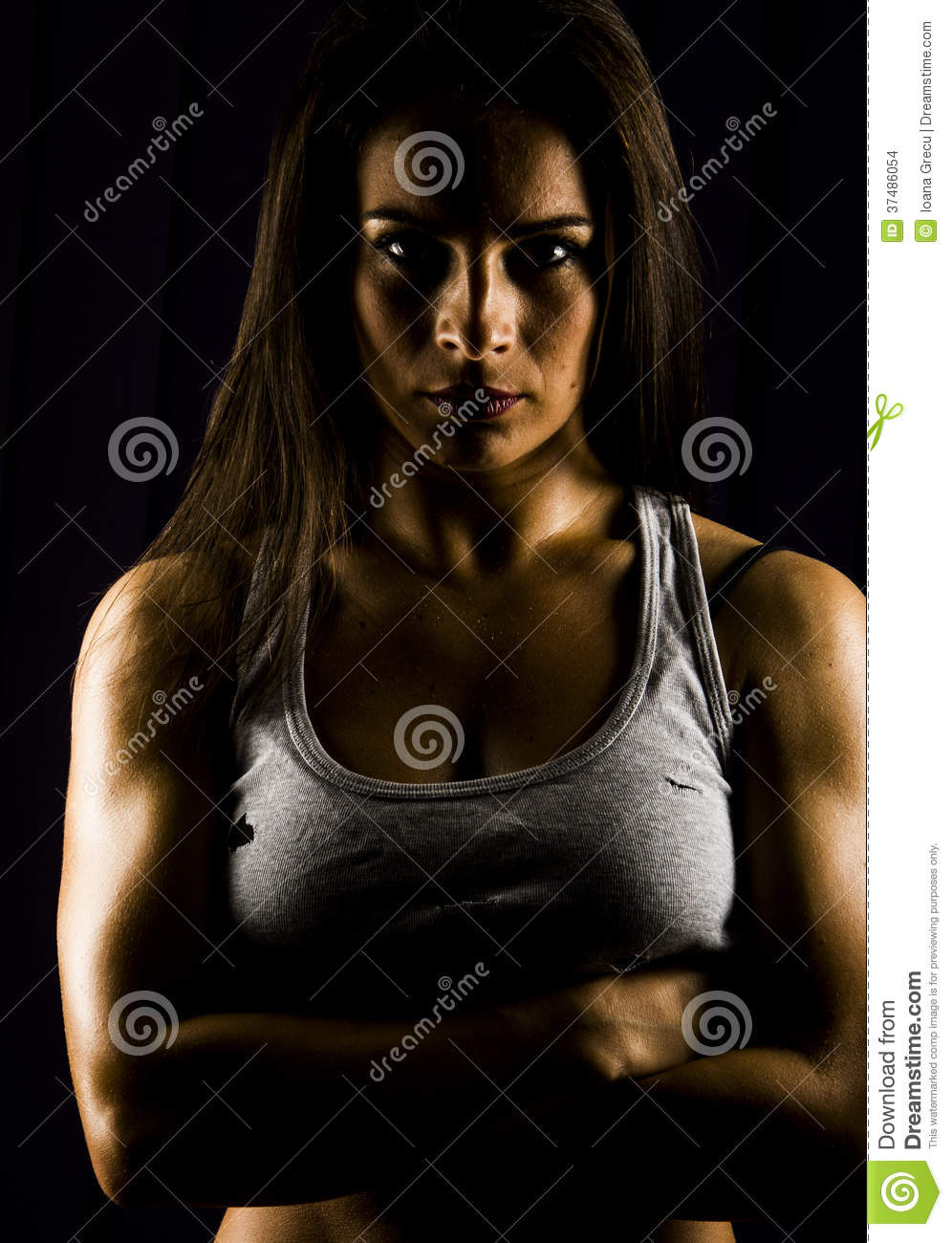 Fit and strong young woman personal trainer