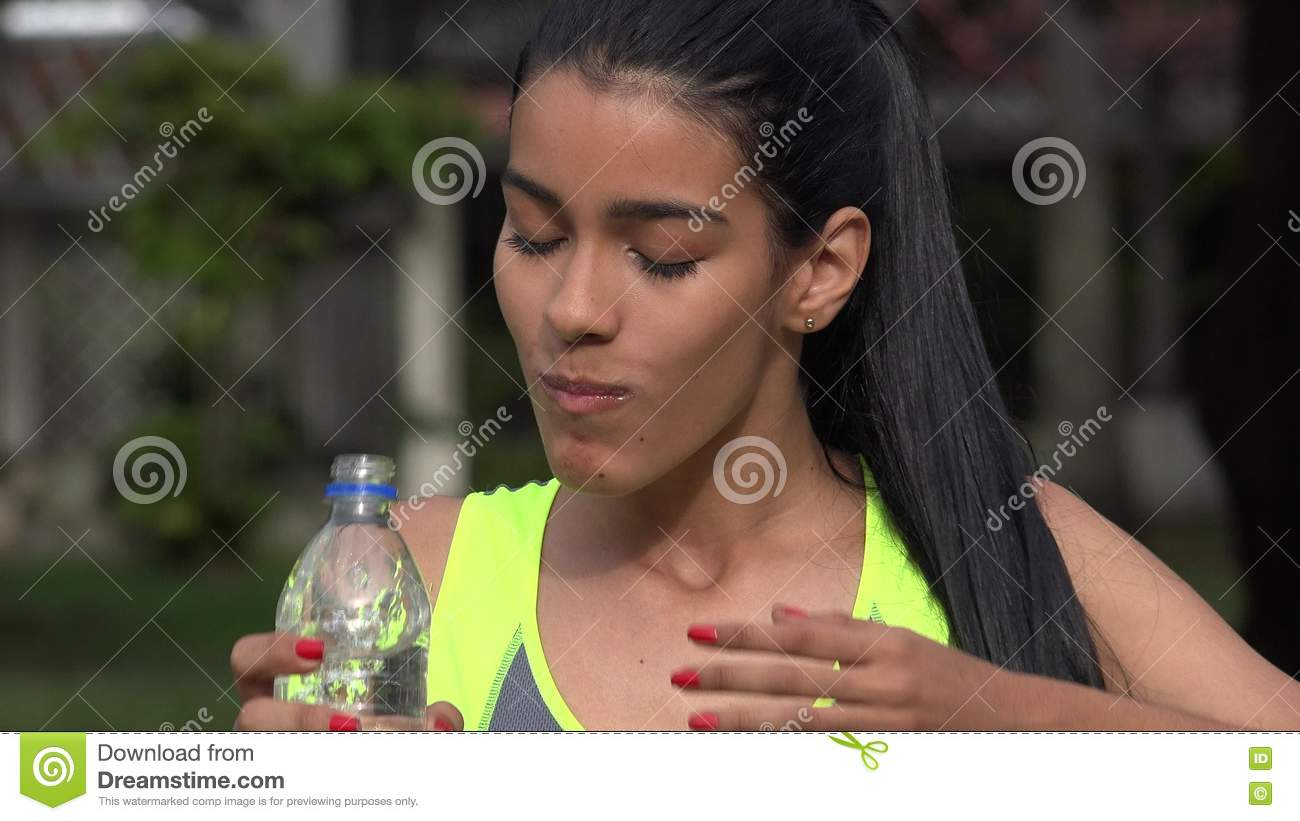 Fit Teen Girl Drinking Water On Hot Summer Day Stock Footage Video Of Fluids Beautiful 78226316