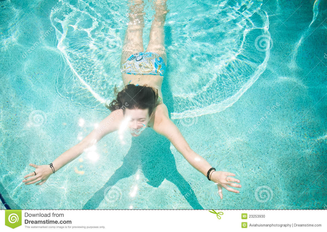 Fit Woman Swimming