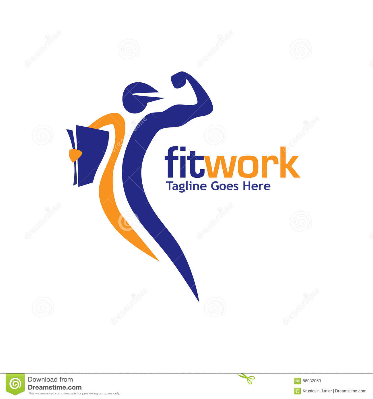 Fit Work Sport And Fitness Logo Vector Stock Vector - Illustration ... for Fitness Logo Vector Free Download  568zmd