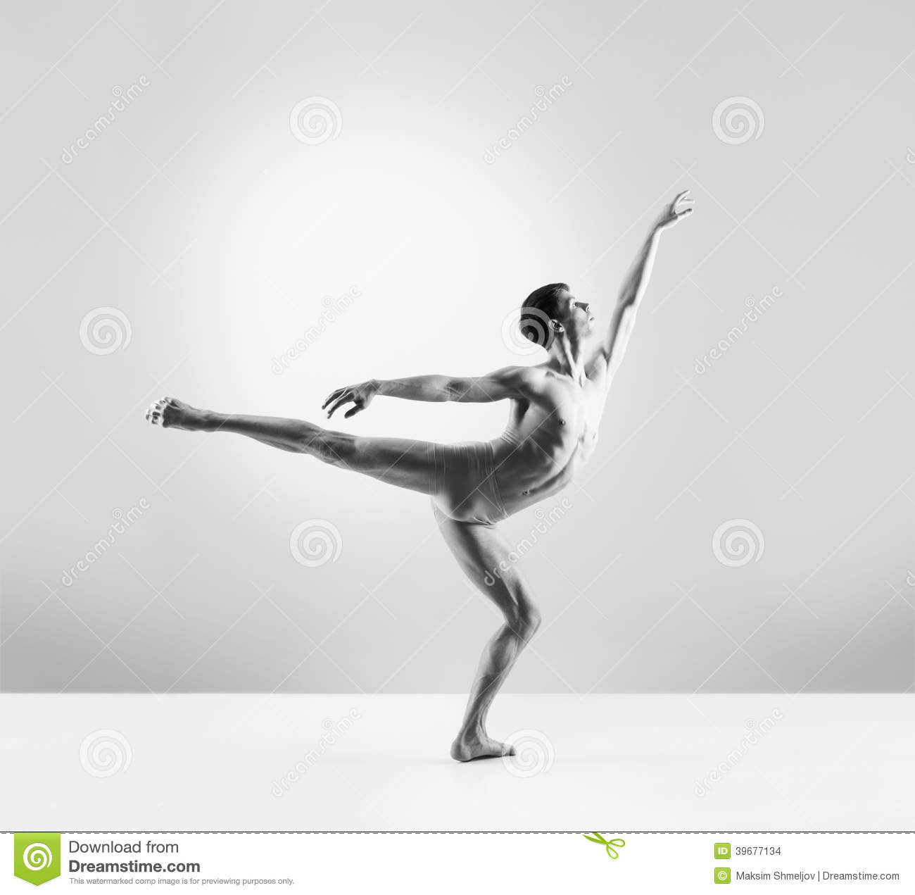 a fit young male ballet dancer on grey stock photo image ballet slippers clip art black and white ballerina slippers clipart