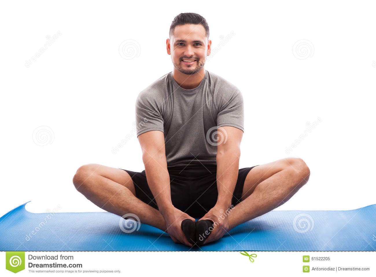 Fit Young Man Warming Up Stock Photo - Image: 61522205