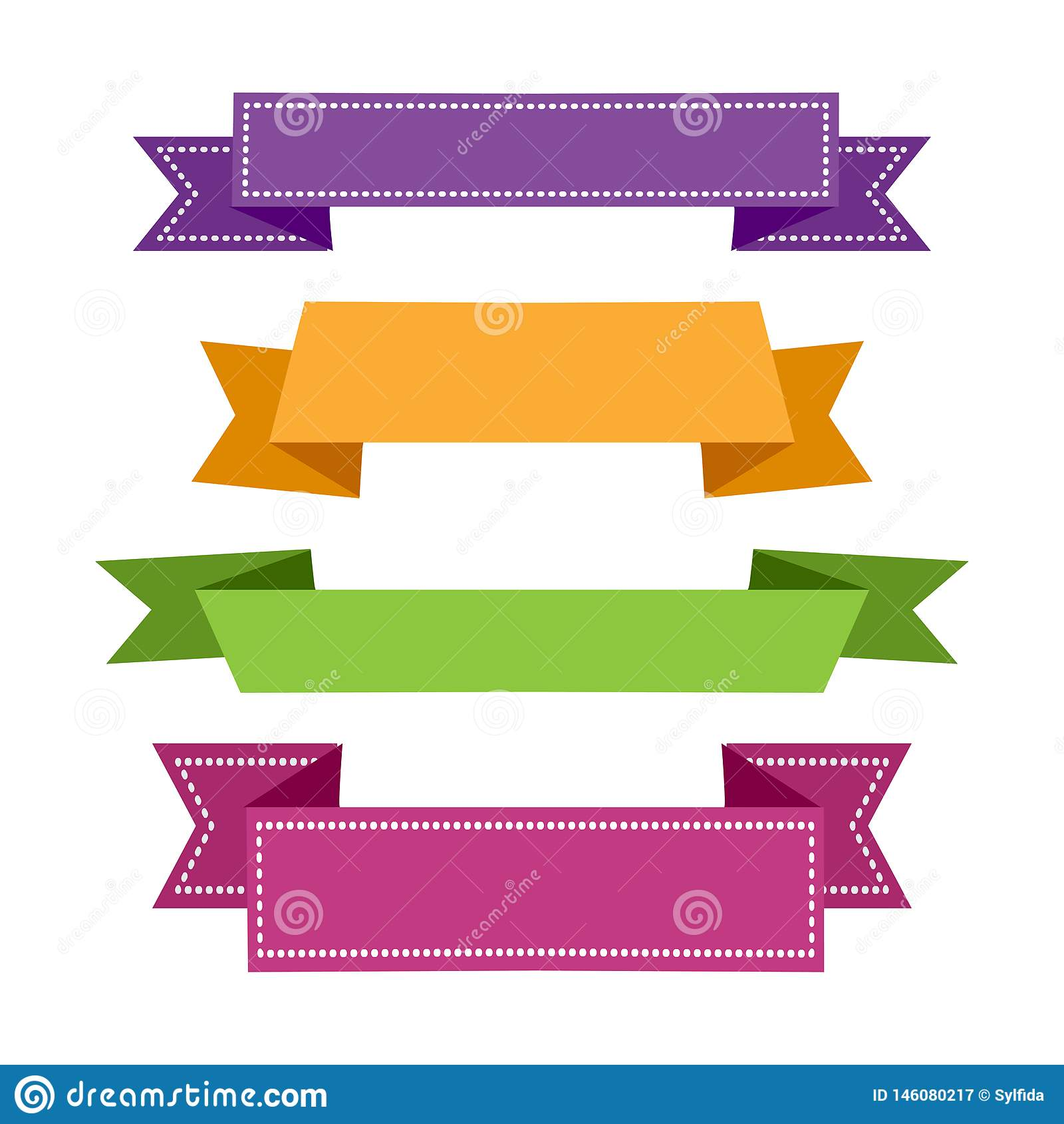 Fita ajustada colorida Bandeiras das fitas Vetor