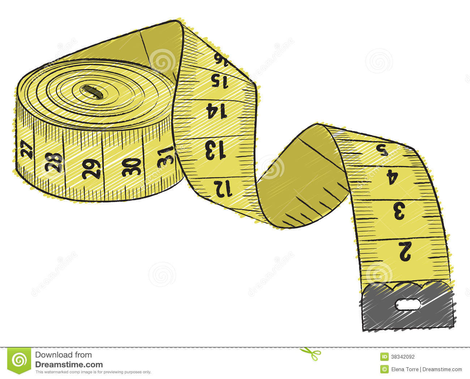 Fita de medição amarela