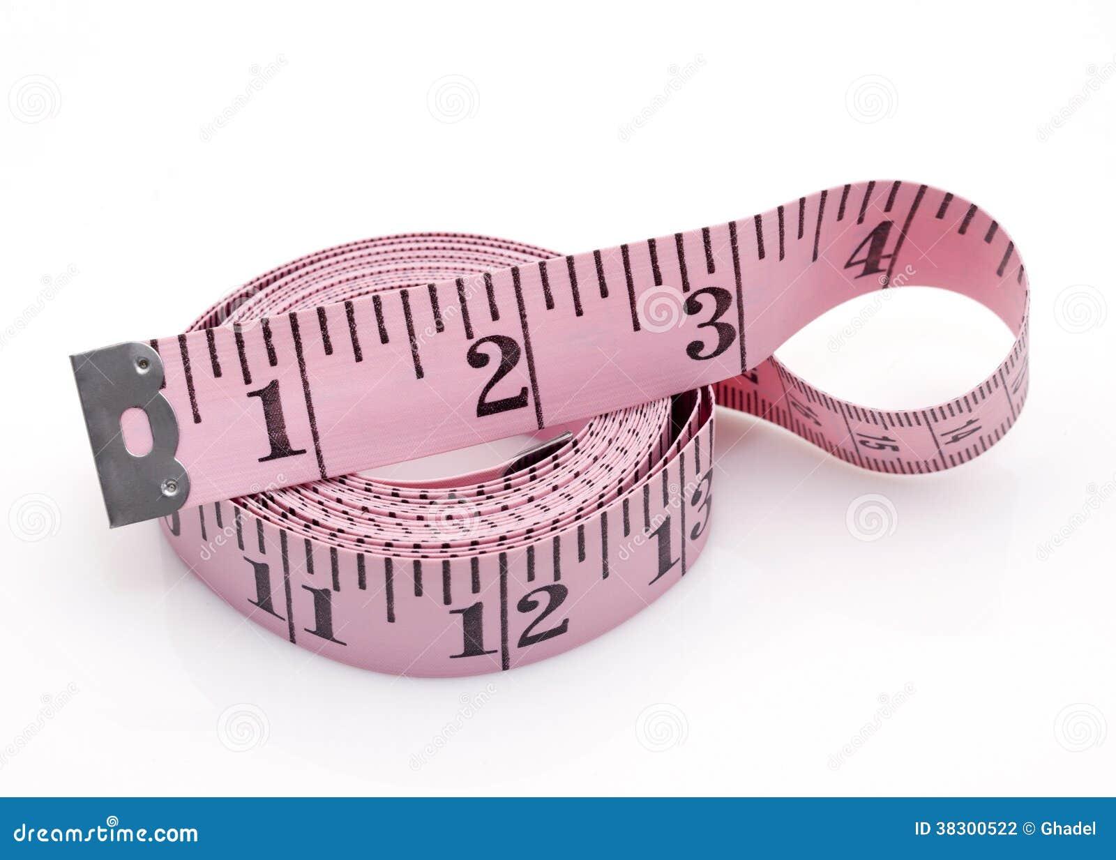Fita de medição cor-de-rosa