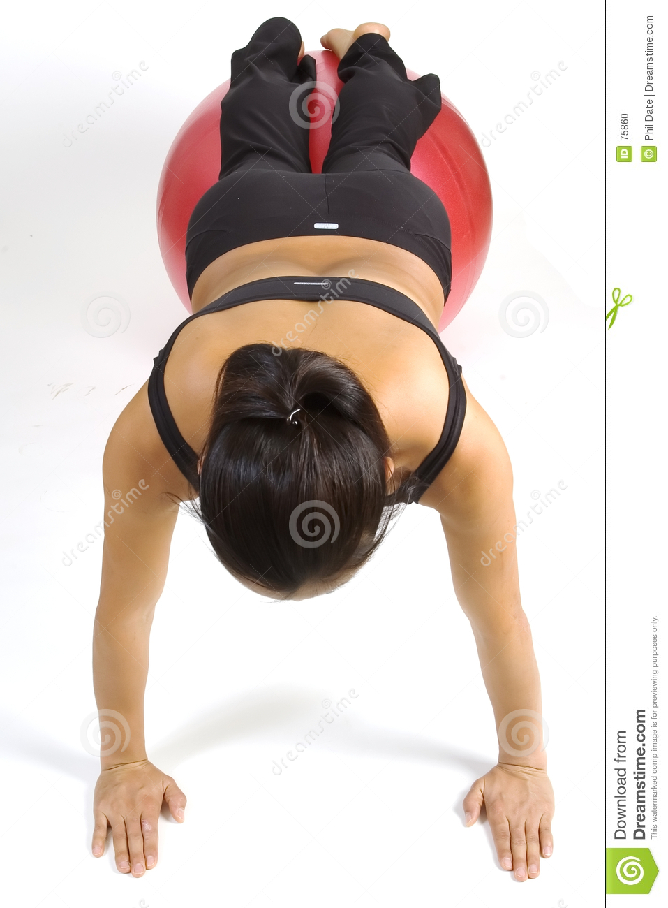 Fitball pushup