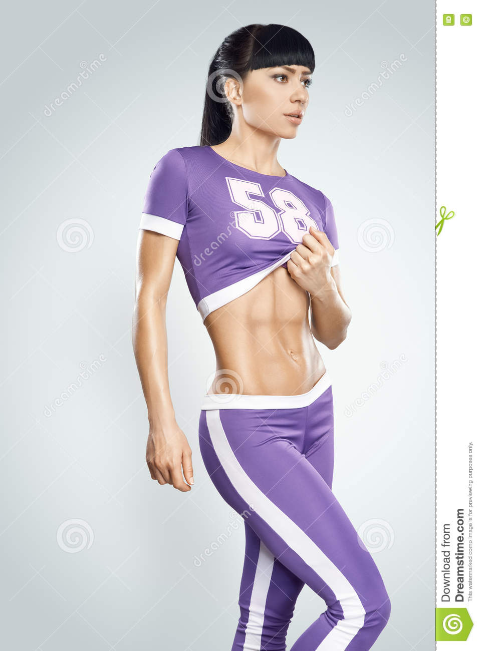 Fitness Athletic Young Woman Stock Photo - Image: 74216566