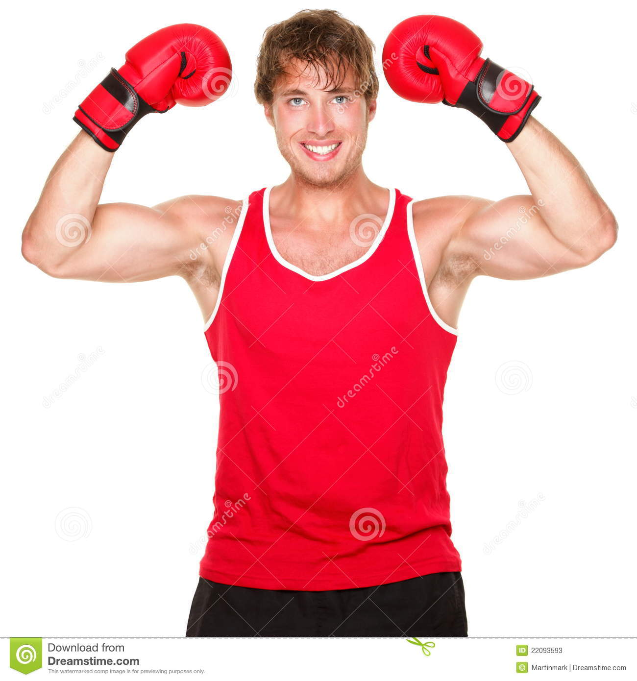 Fitness boxing man