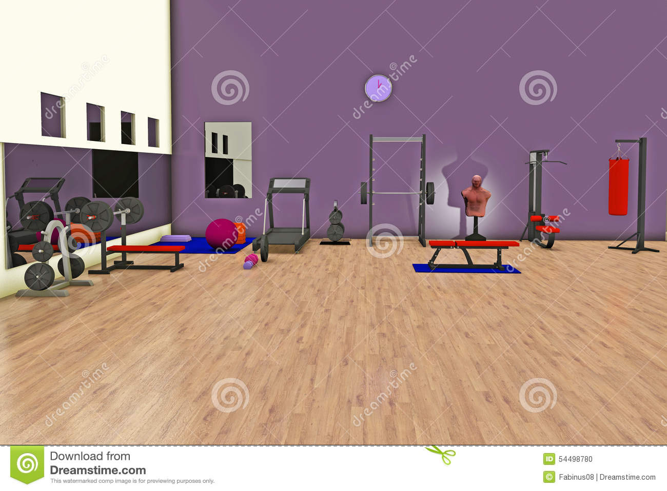 Fitness center stock illustration image