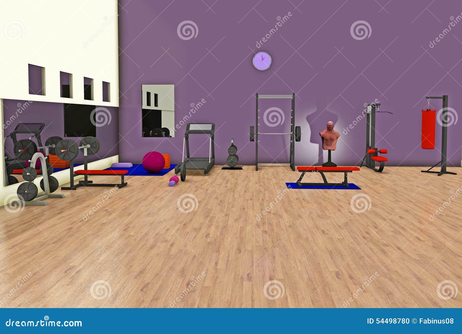 Fitness center stock illustration image