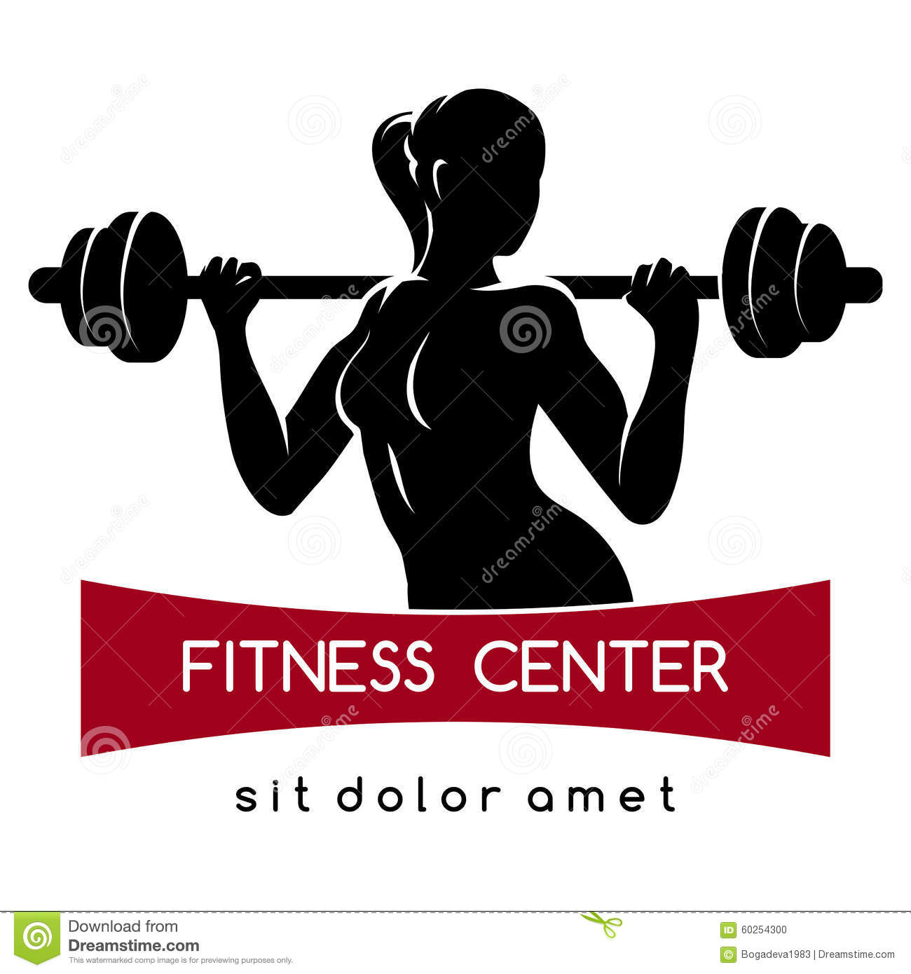 Fitness center or gym logo stock vector illustration of for Gym layout design software free