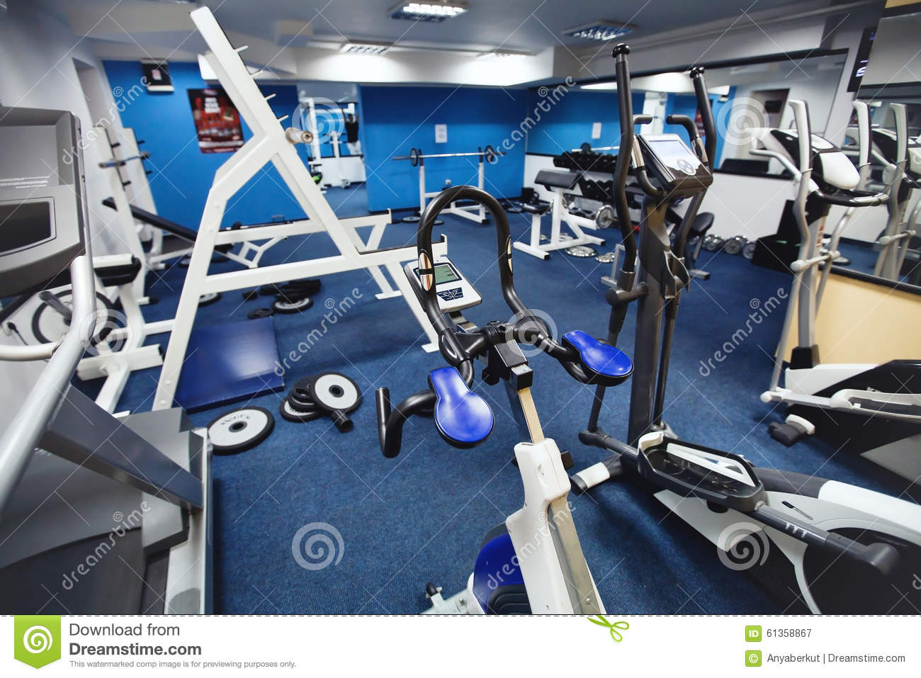 Fitness Center Stock Photo Image 61358867