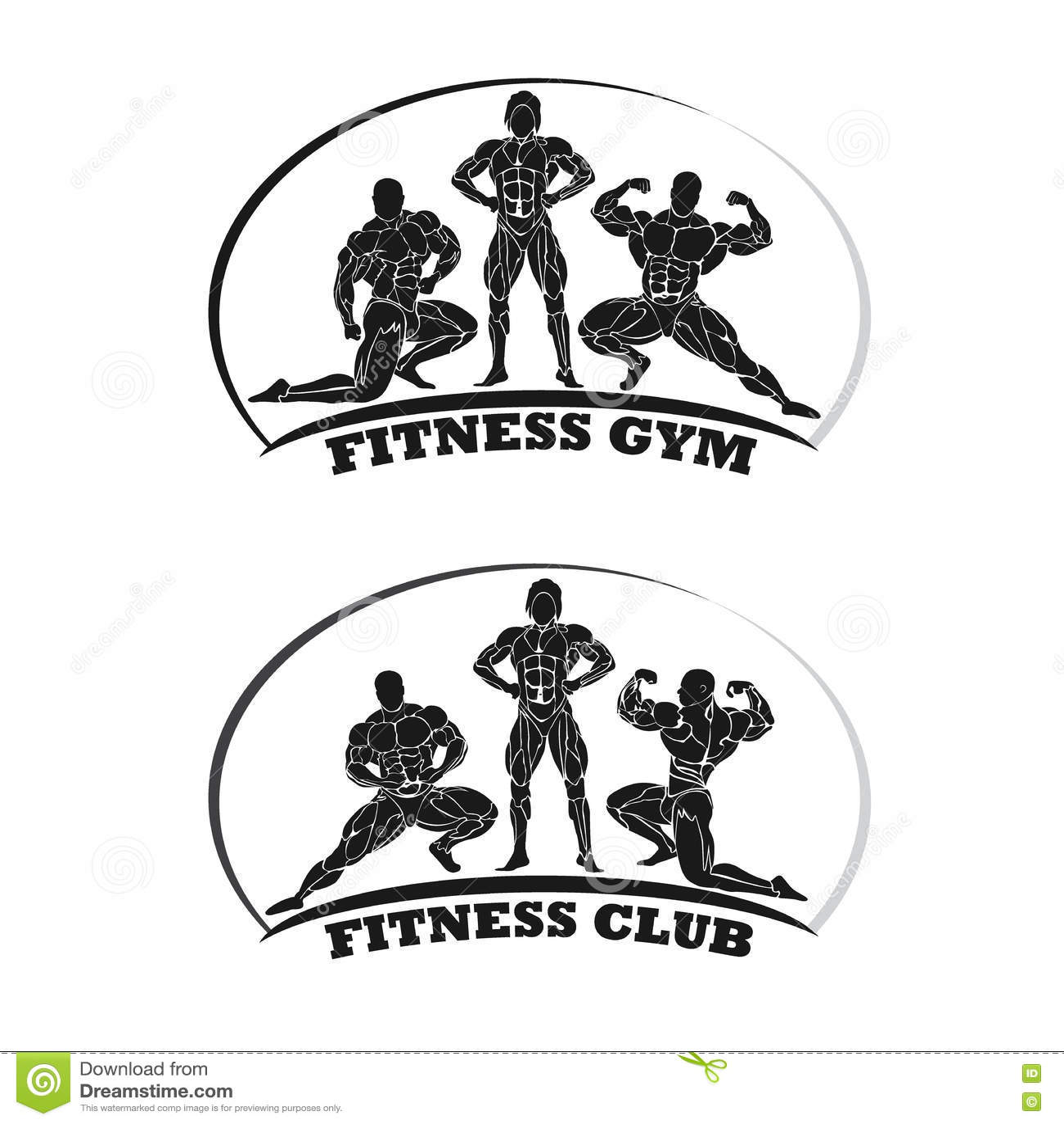 Fitness Club Emblem, Bodybuilding Concept, Vector Illustration ...