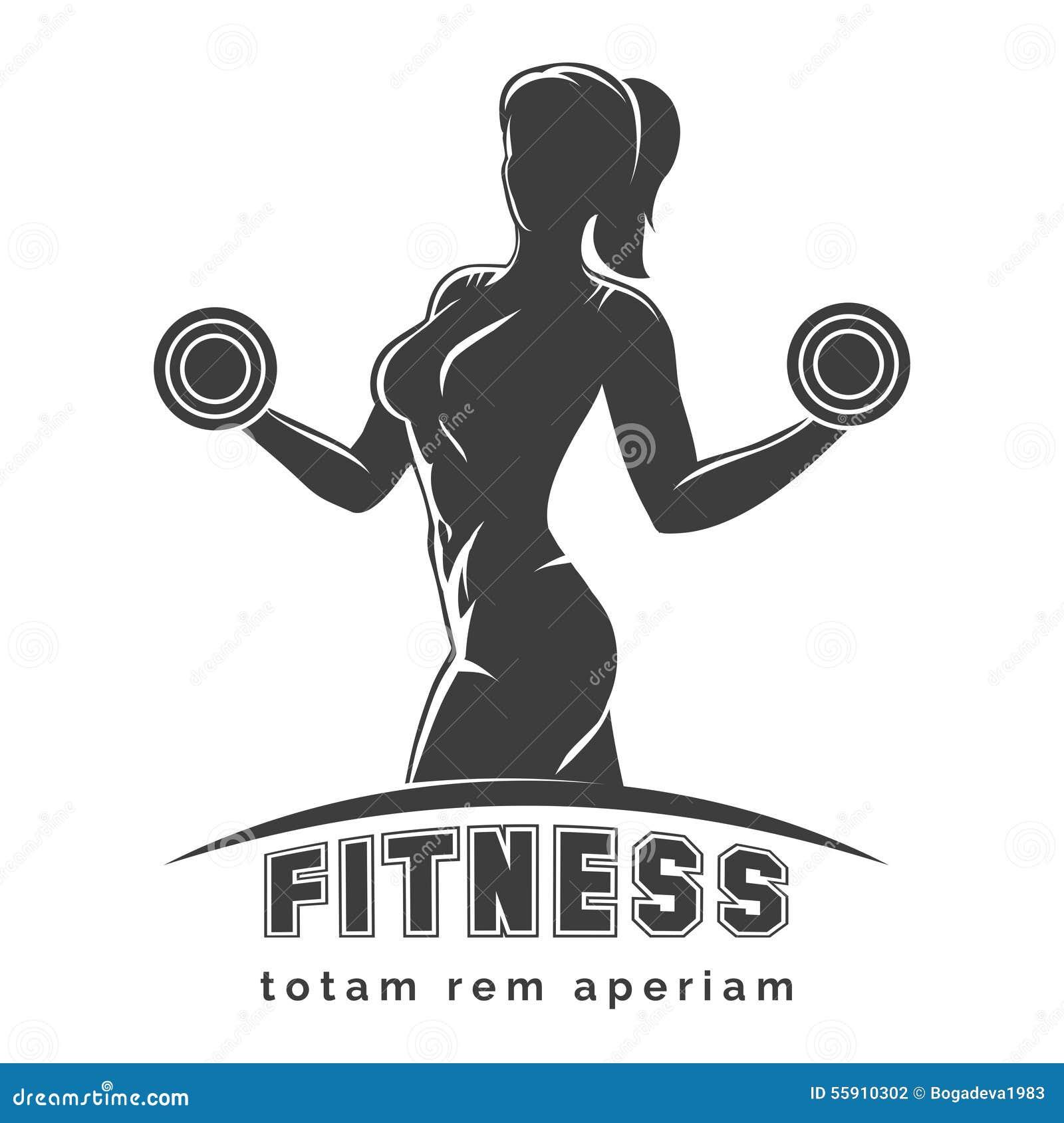 fitness club emblem stock vector image 55910302