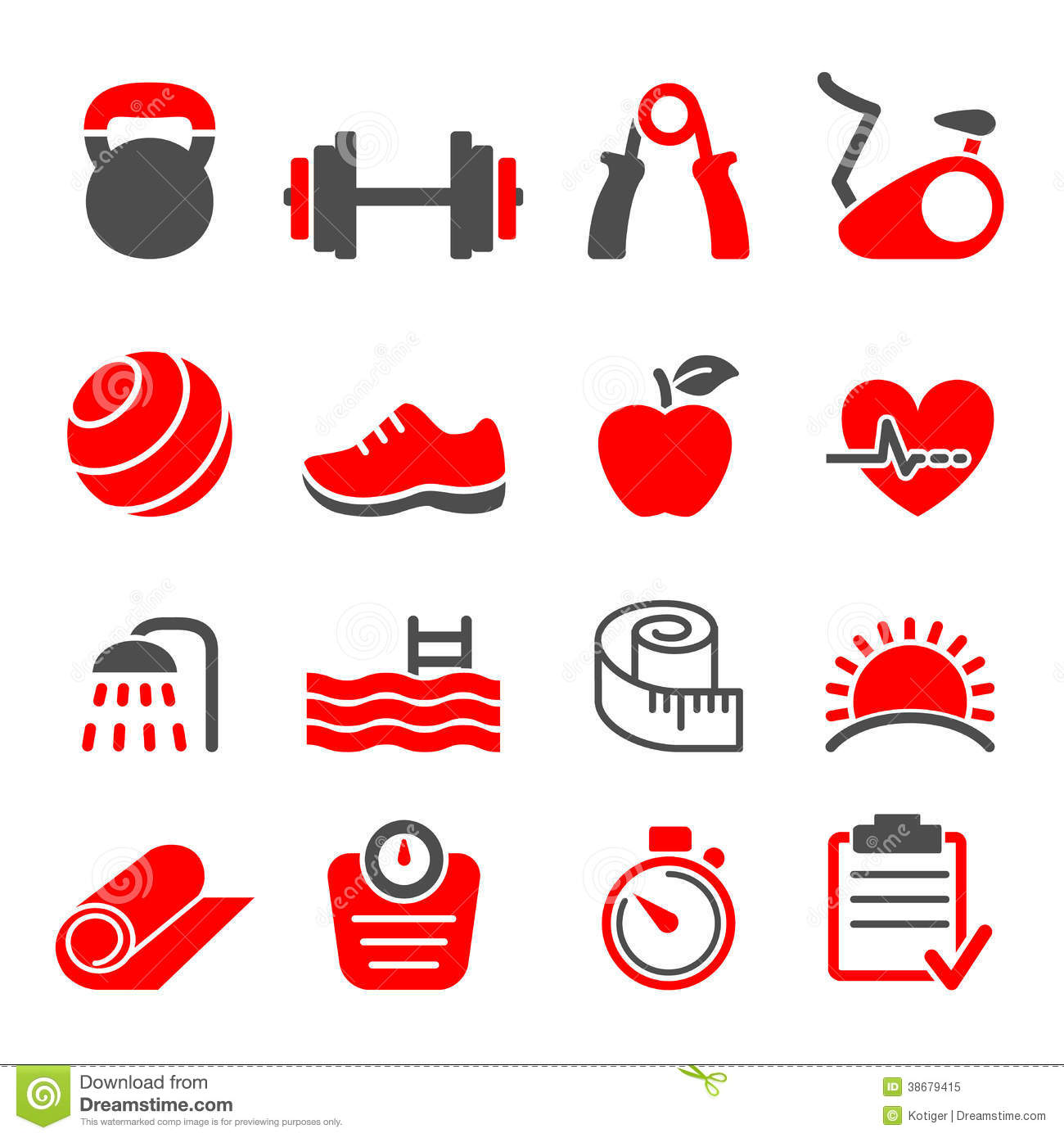 Fitness Club Icons Set Vector Royalty Free Stock Photo ...