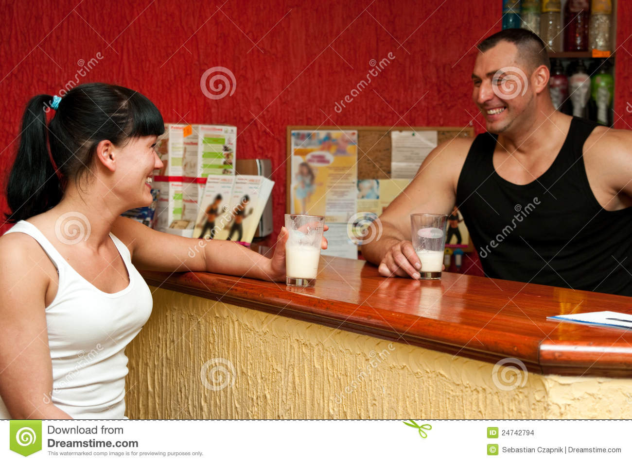 fitness club reception desk stock images image  fitness club reception desk