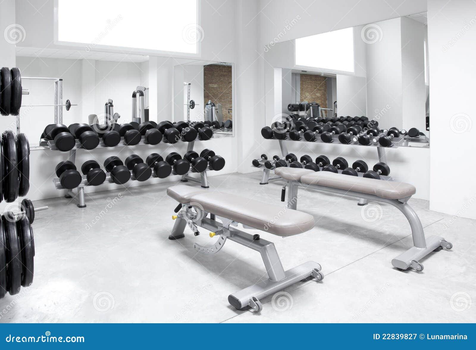 Fitness club weight training equipment gym stock image for Gimnasio fitness club