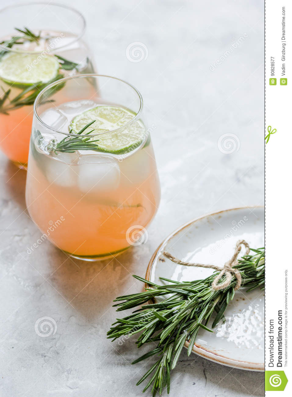 fitness cocktail in glass with