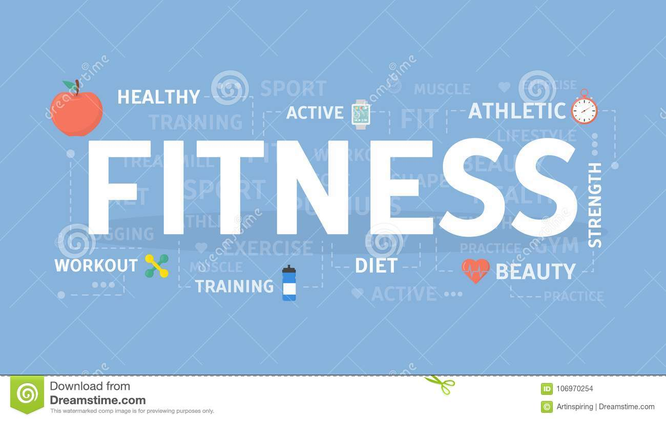 fitness concept illustration. stock vector - illustration of flat