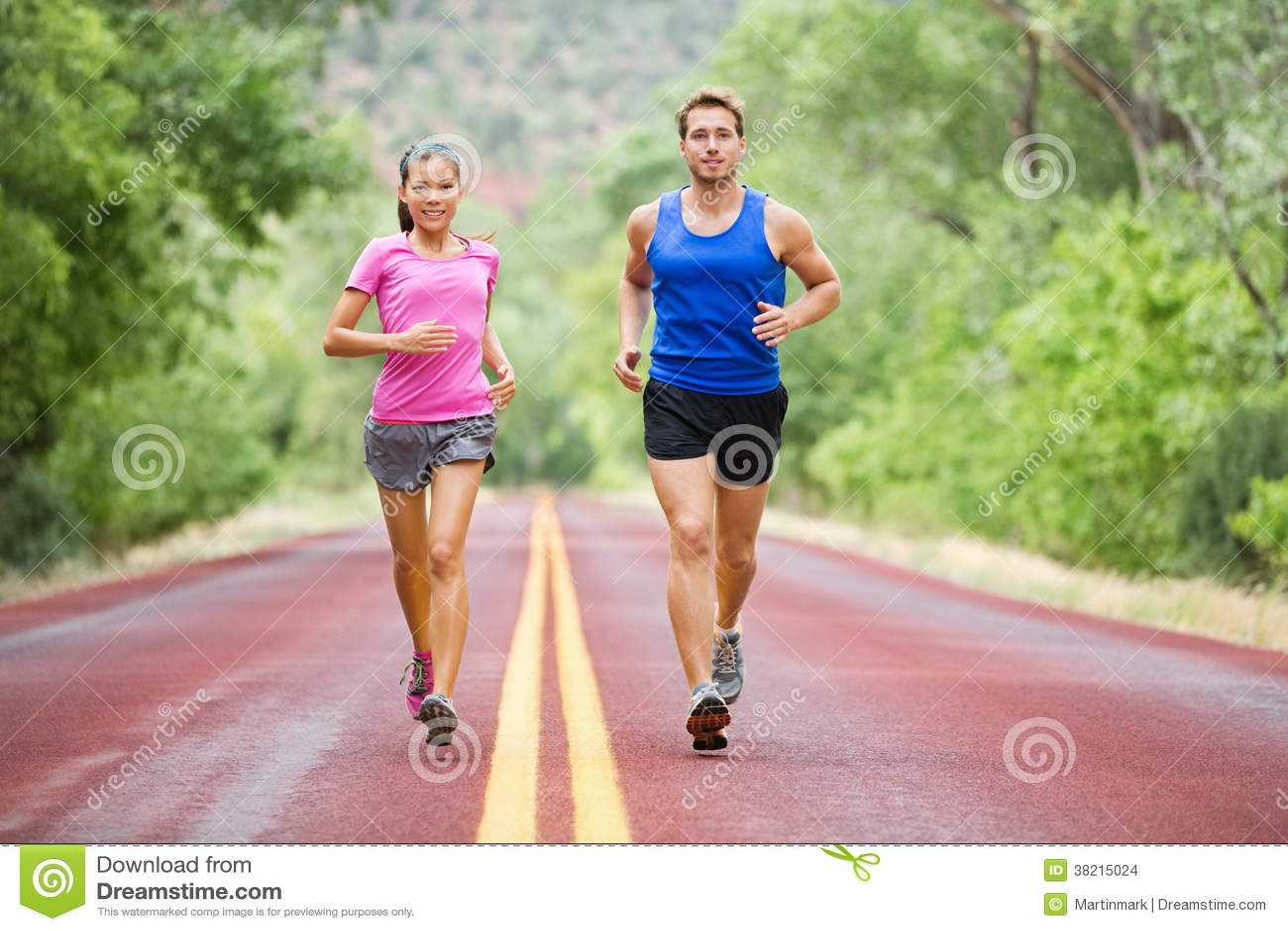 Fitness de lopende jogging van het sportpaar