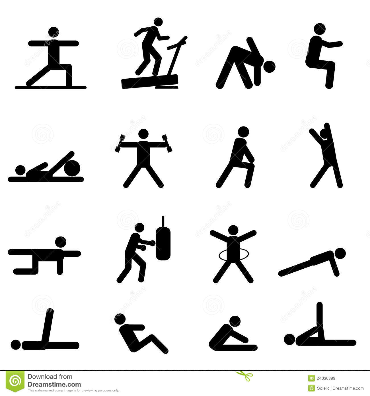 Fitness And Exercise Icons Royalty Free Stock Images ...