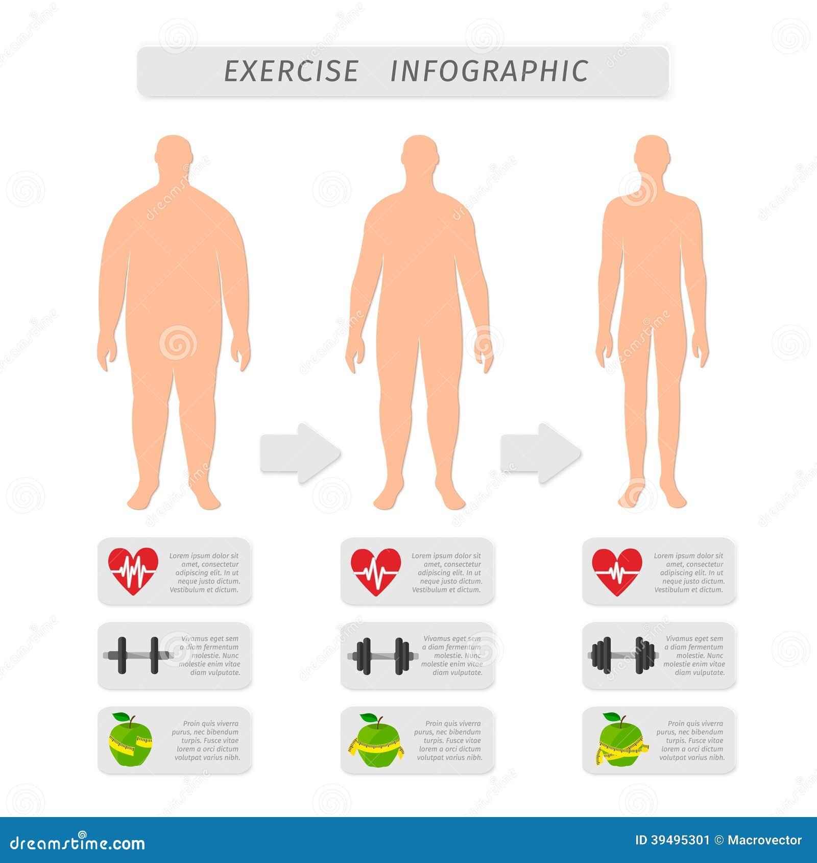Fitness Exercise Progress Infographic Stock Vector - Image ...