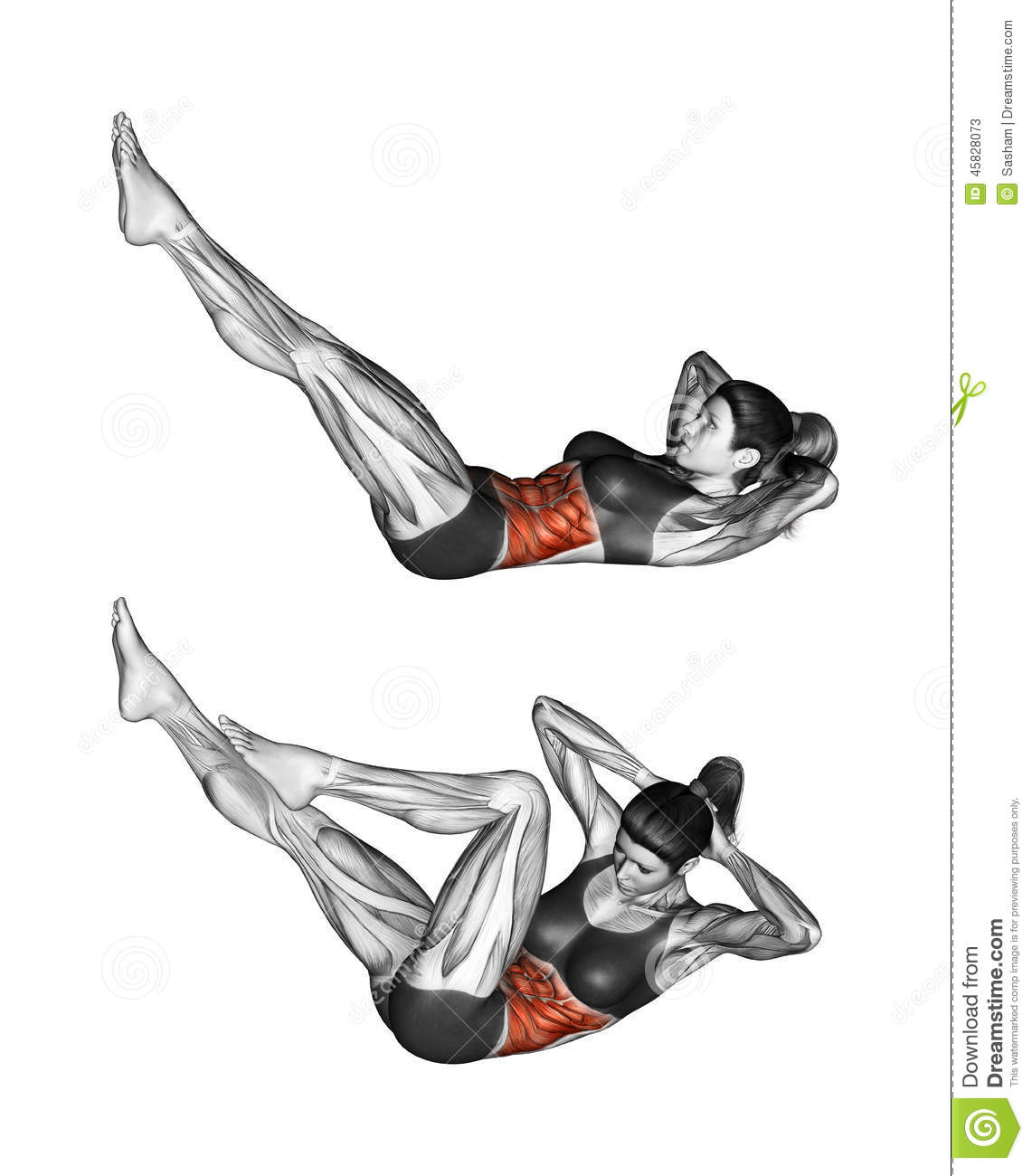 Twisting exercise clipart