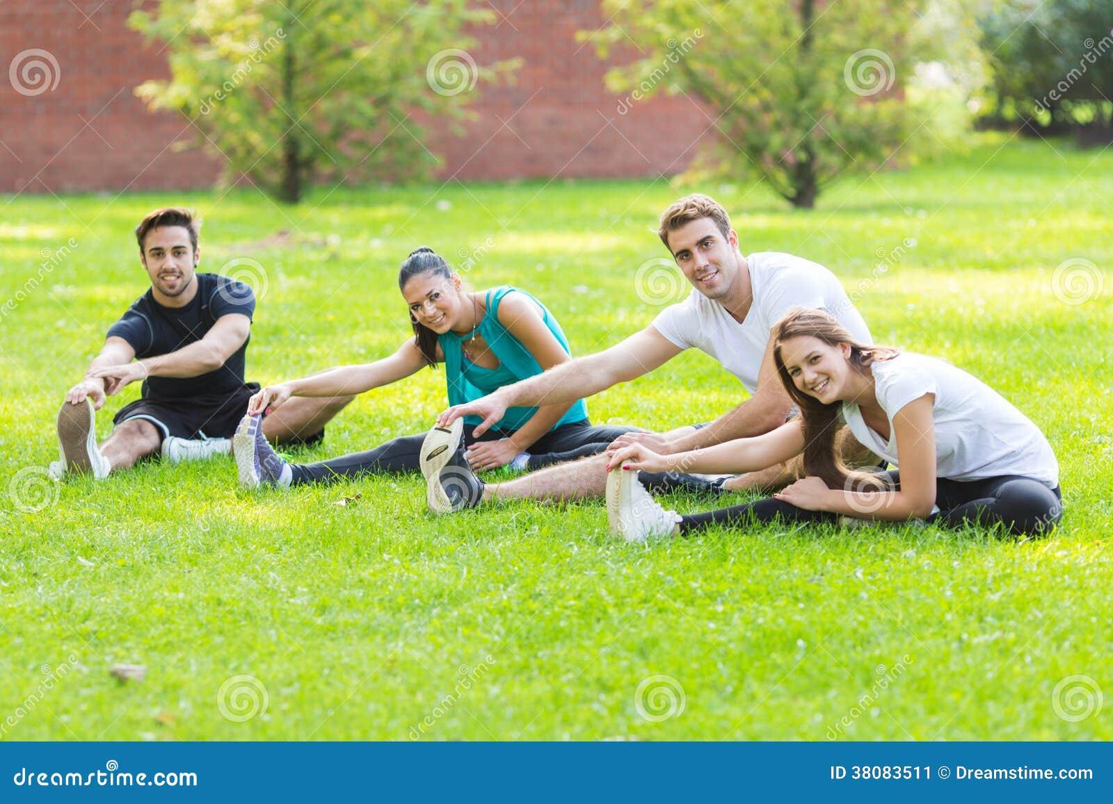 fitness friends stock image image 38083511. Black Bedroom Furniture Sets. Home Design Ideas