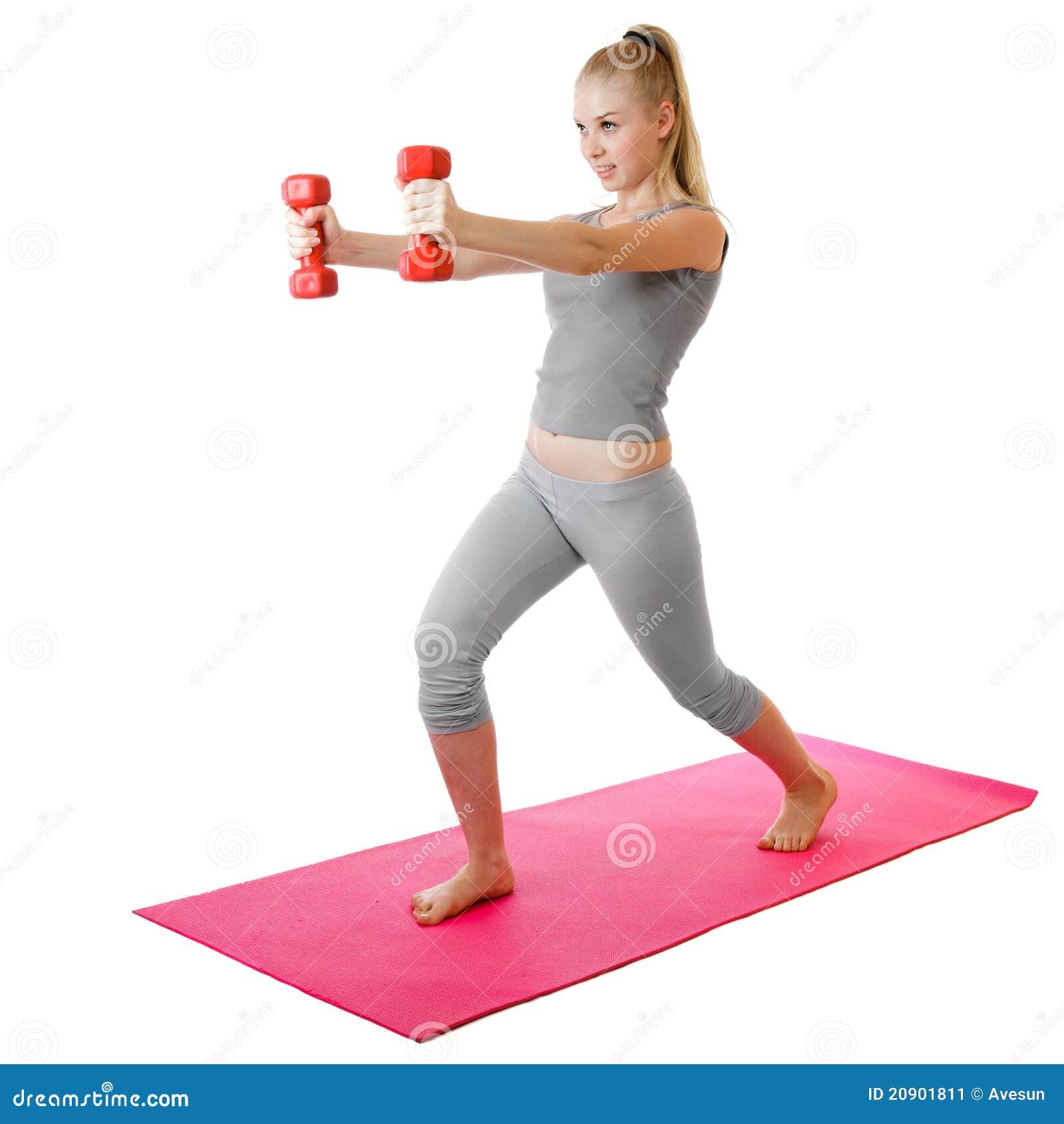 Фитнес девушка в белом 3 фотография