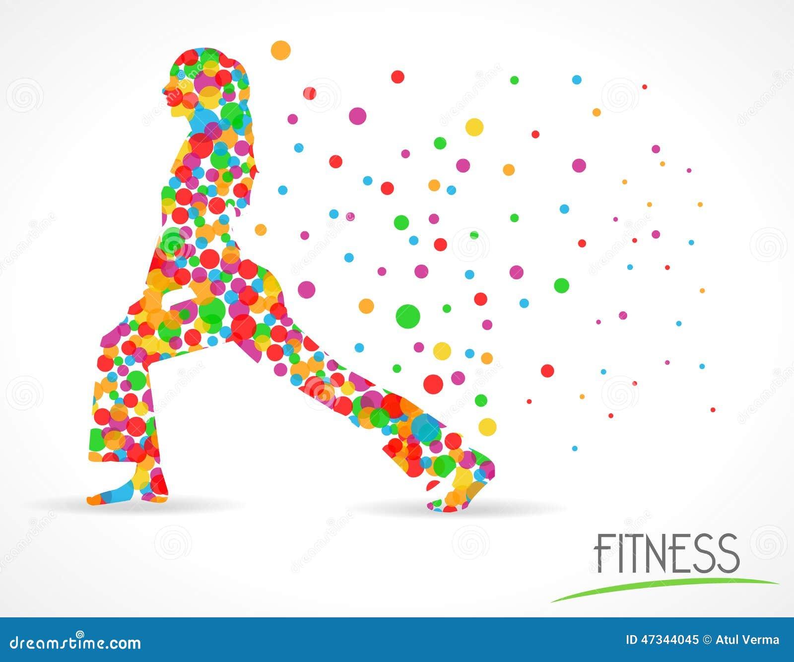 Fitness Girl Label, Fitness Model Illustration, Flat Color ...