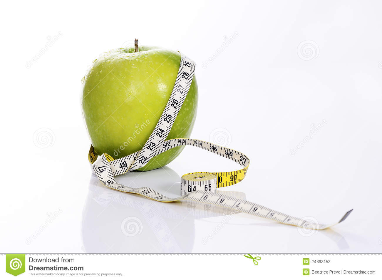 Fitness green apple stock photos image