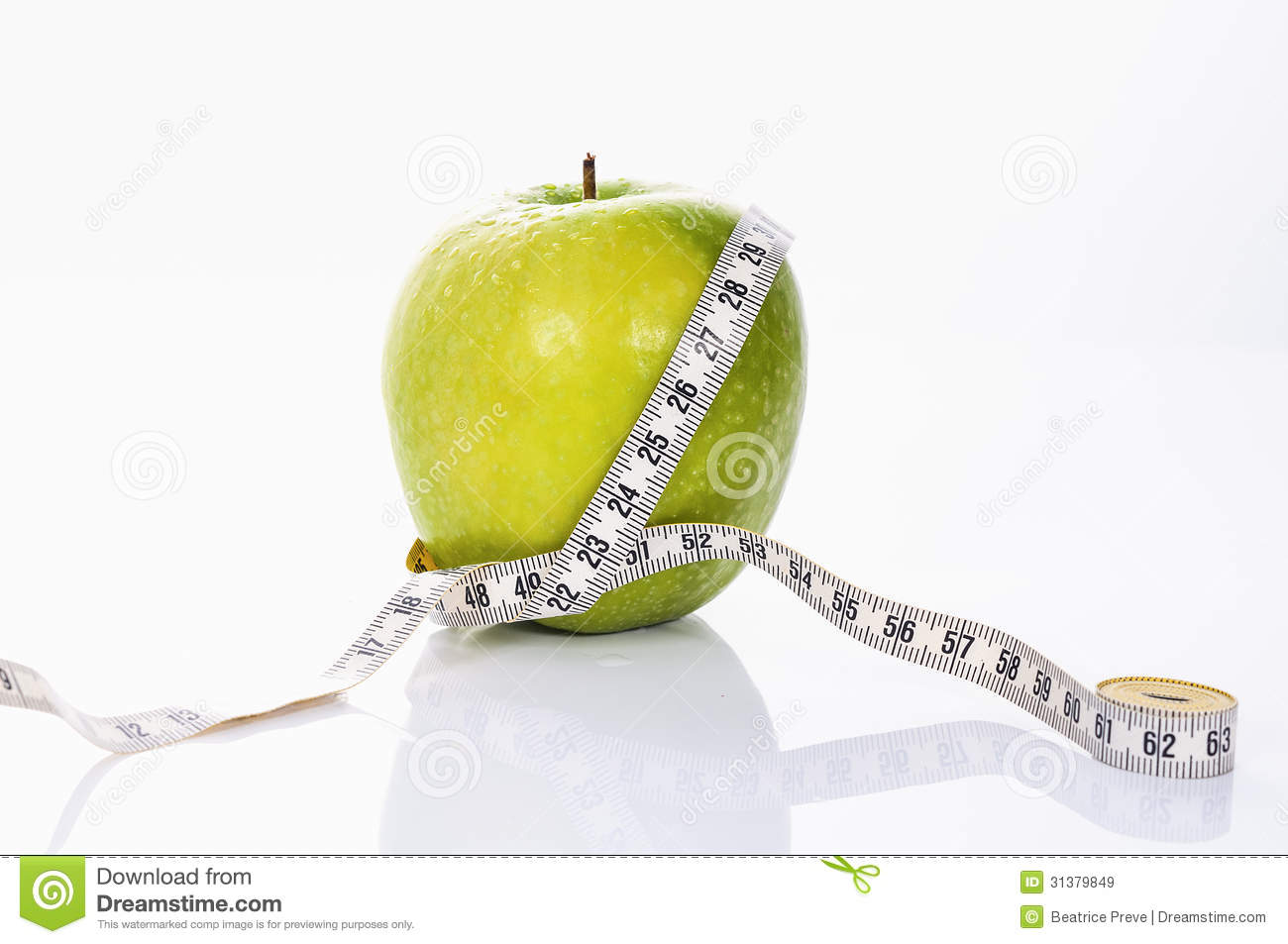 Fitness green apple royalty free stock images image