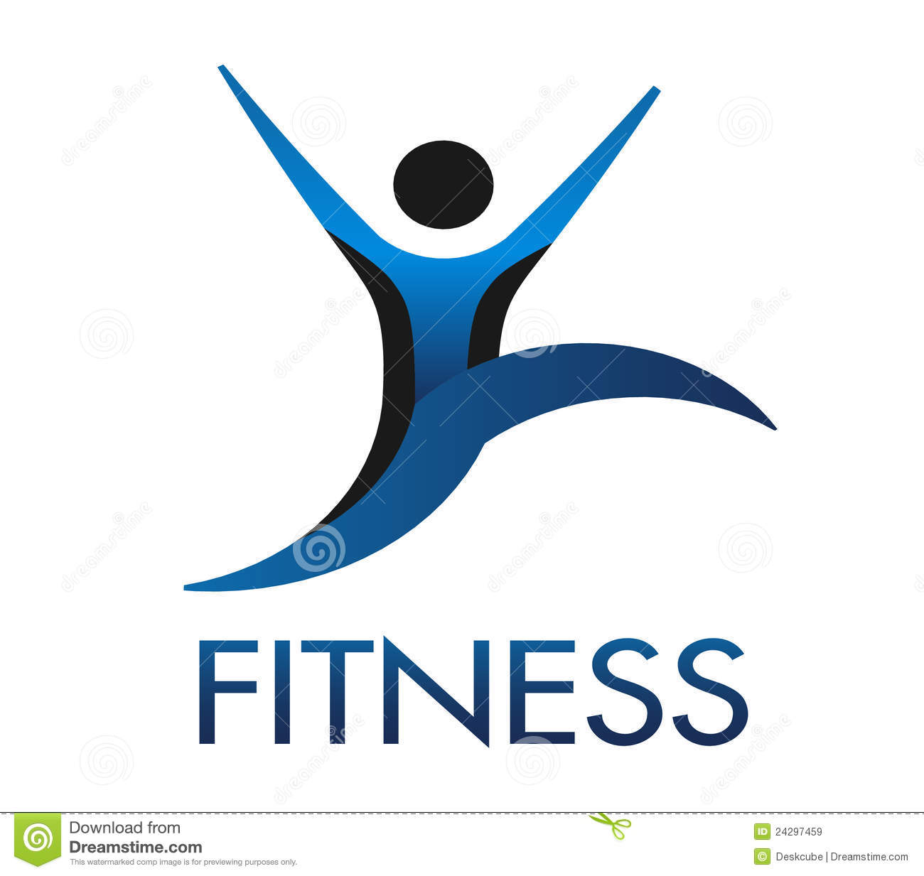 Fitness Guy Logo Royalty Free Stock Images Image 24297459
