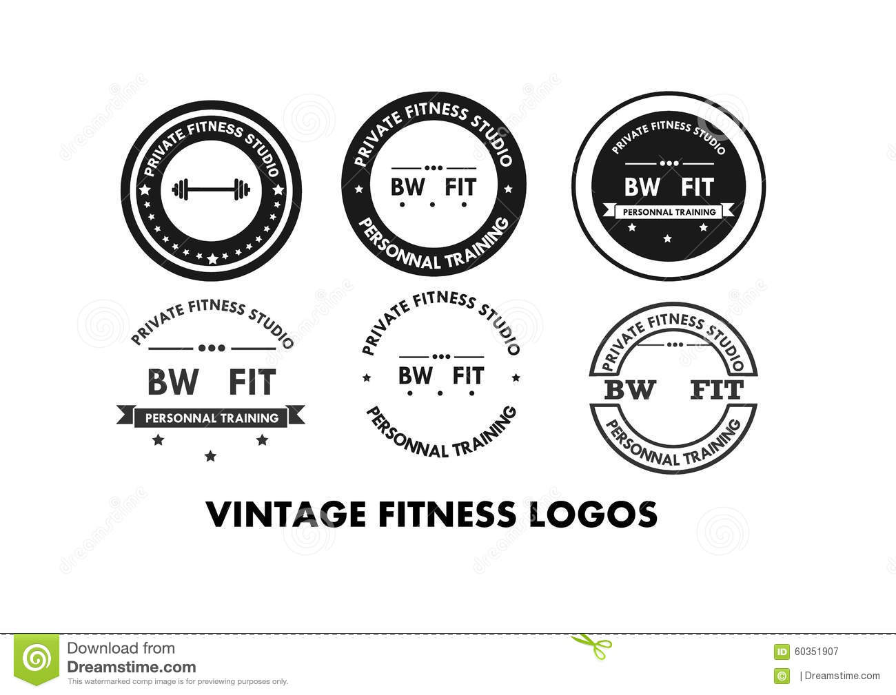 Fitness gym logos and emblems stock vector illustration for Gym layout design software free
