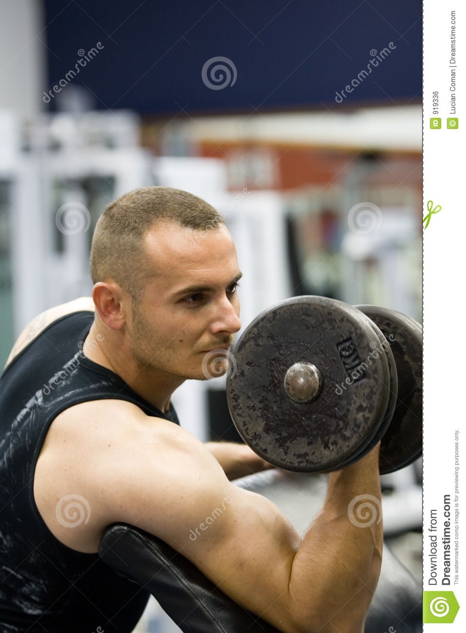 Fitness gym training weights