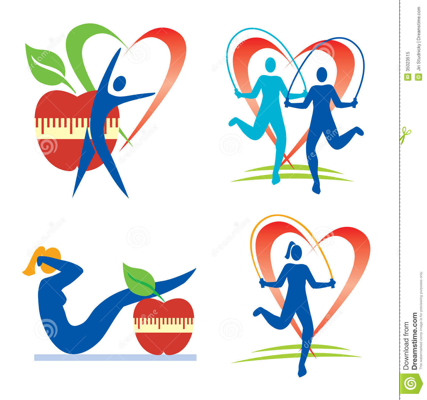 Health Fitness Symbols Stock Photos, Images, & Pictures - 945 Images