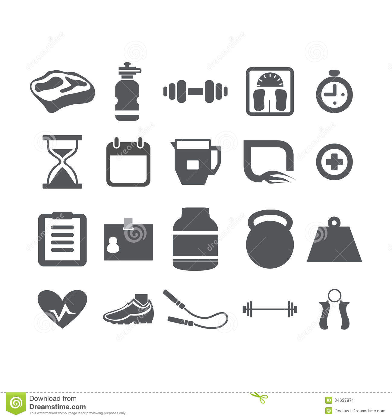 Health Fitness Icons Stock Photos, Images, & Pictures - 142 Images