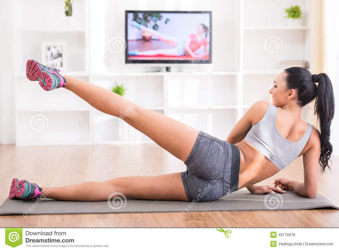 Fitness At Home Stock Photo - Image: 49716976