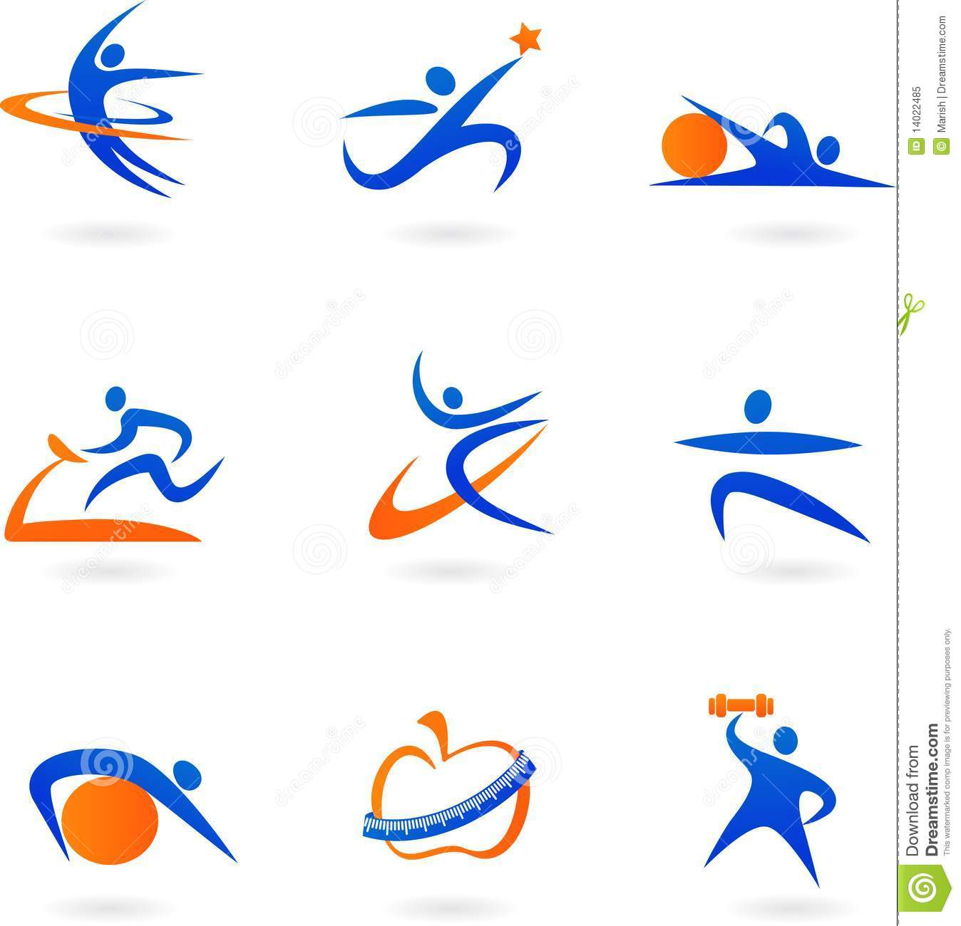 Fitness Icons 2 Royalty Free Stock Photo Image 14022485