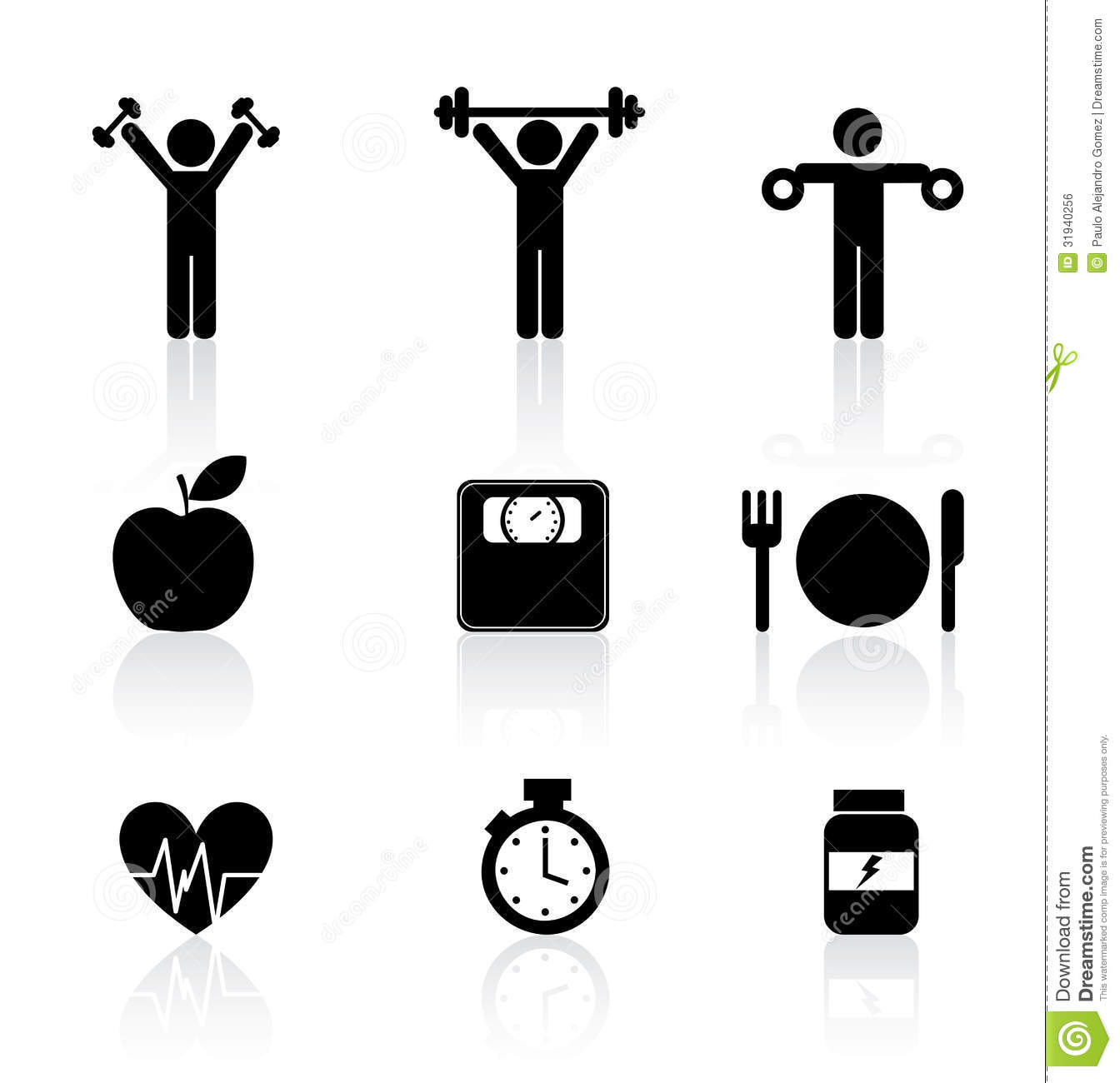 Fitness Icons Royalty Free Stock Image - Image: 31940256