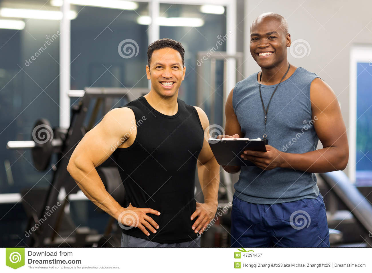 Fitness instructor client