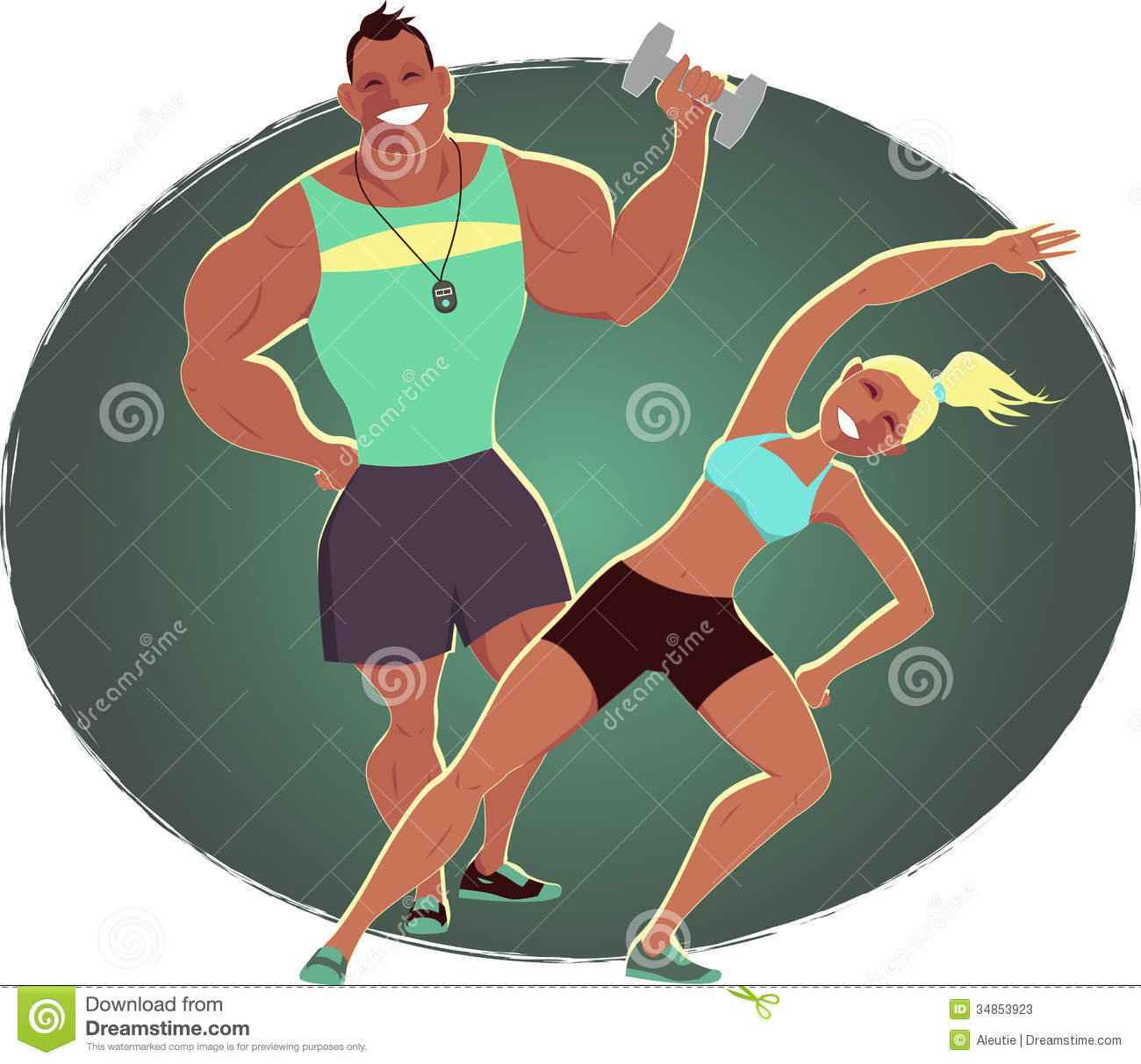 personal strengths royalty stock photos image  fitness instructor and personal trainer stock photos