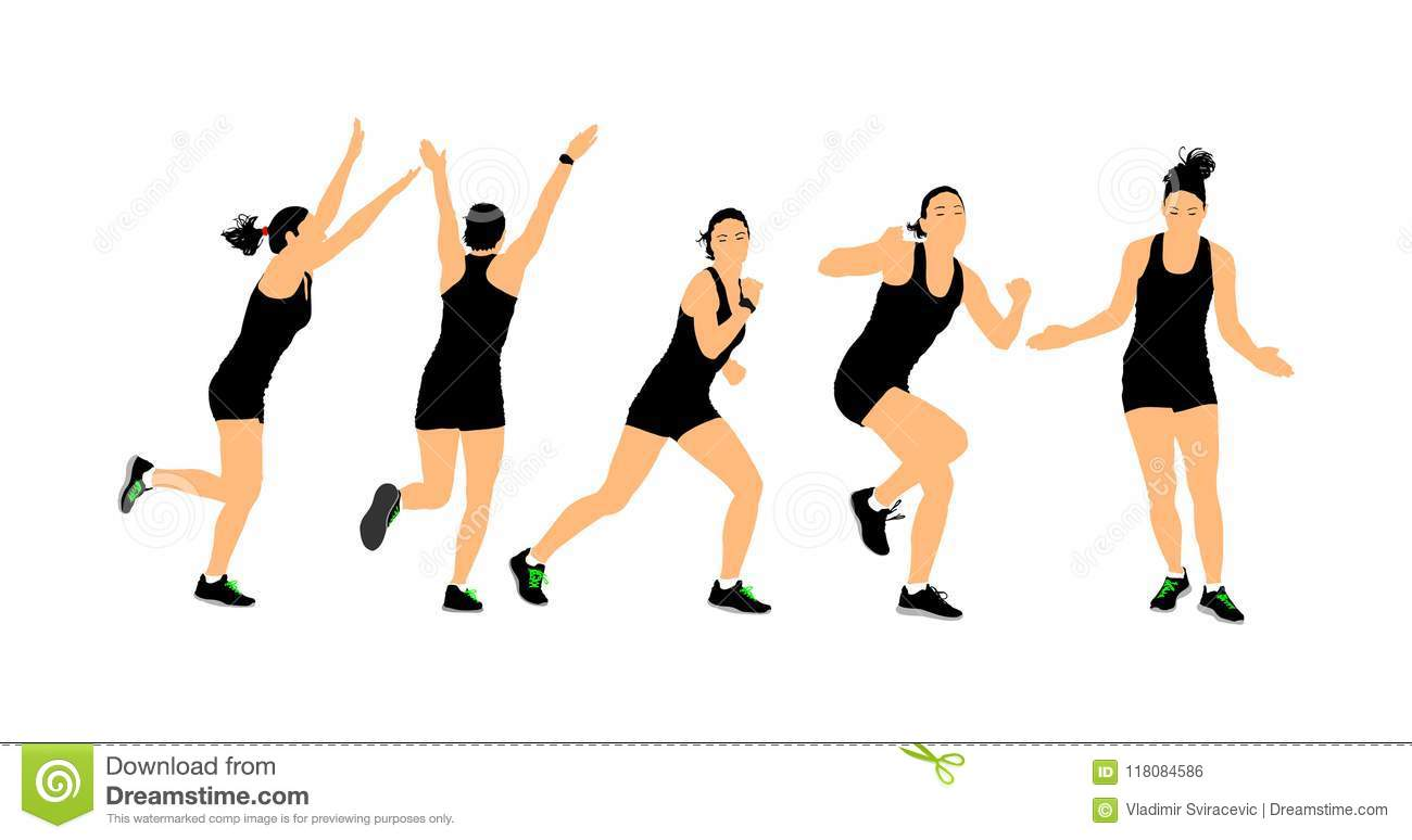 Fitness Instructor Training Sport Training Woman Gym And