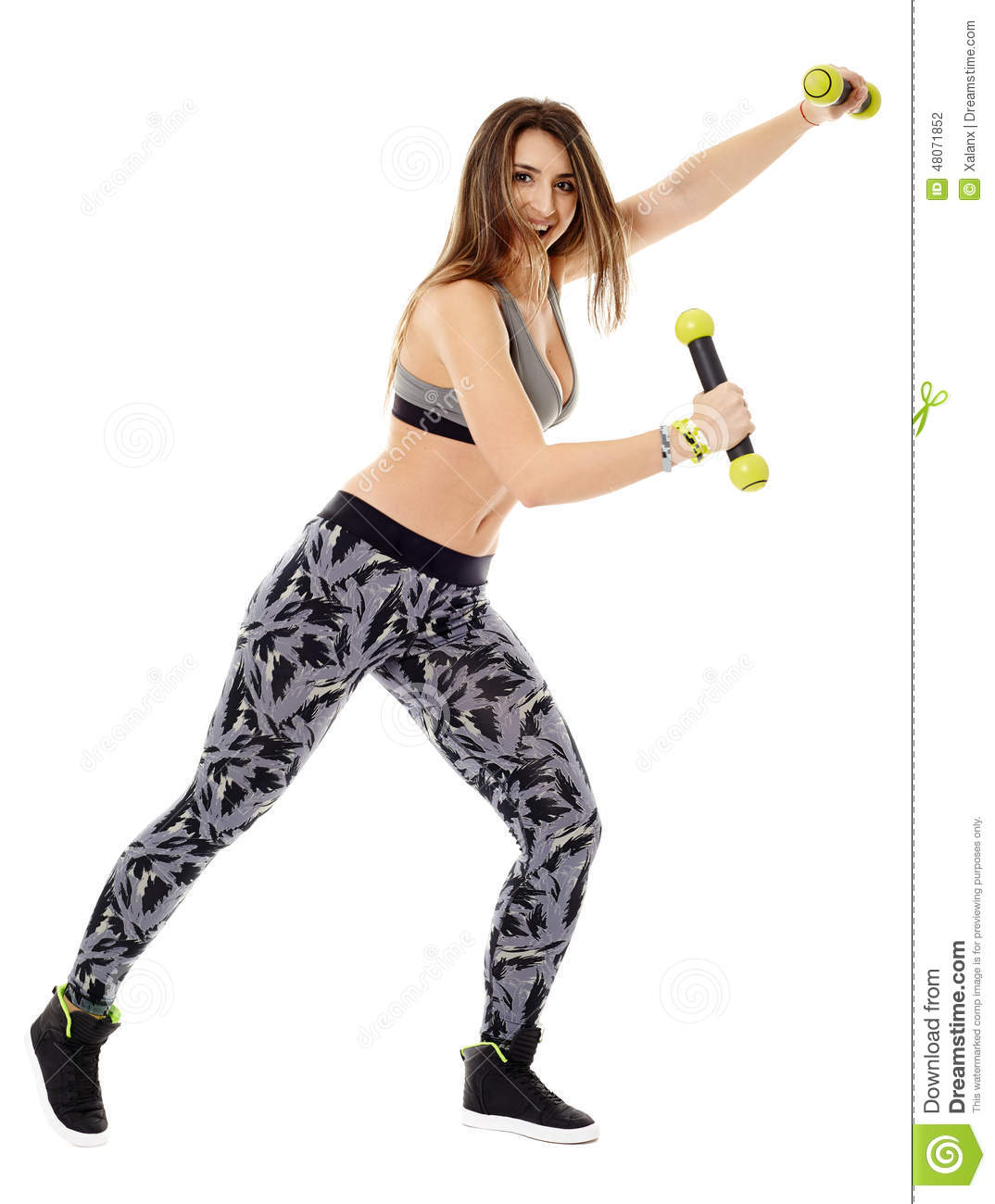 Fitness lady doing cardio dance stock photo image 48071852 for Lady fitness