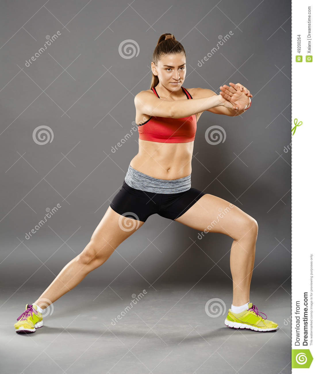 Fitness lady stretching stock photo image of girl for Lady fitness