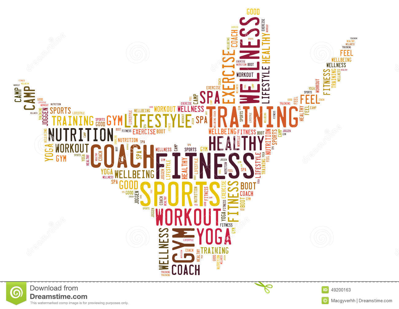 edf43baca4bcb Fitness sports and wellbeing Lifestyle word cloud. Designers Also Selected  These Stock Illustrations