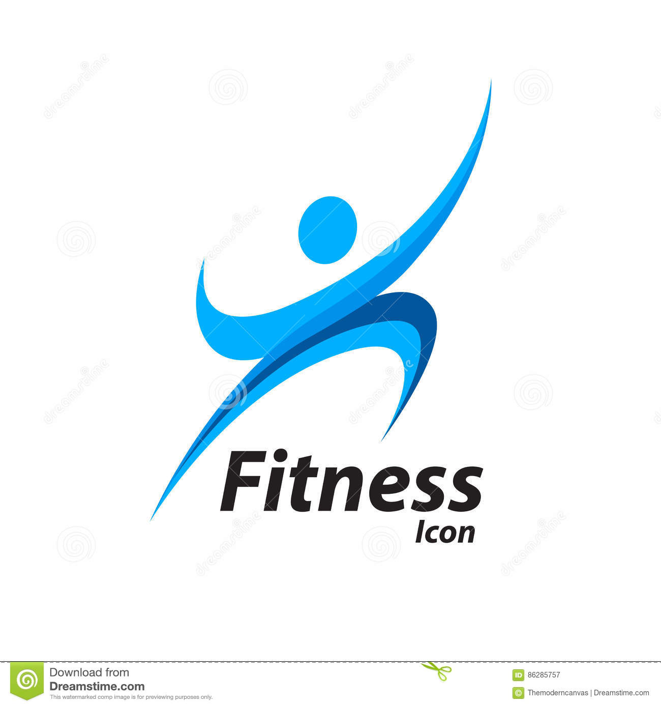 Fitness Logo With Abstract Healthy Body Wellness Icon. Vector ... for Fitness Logo Vector Free Download  181pct