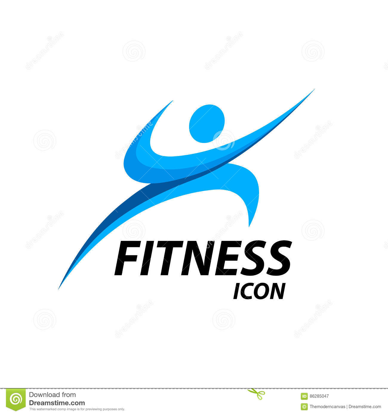 Fitness Logo With Abstract Healthy Body Wellness Icon. Vector ... for Fitness Logo Vector Free Download  111bof