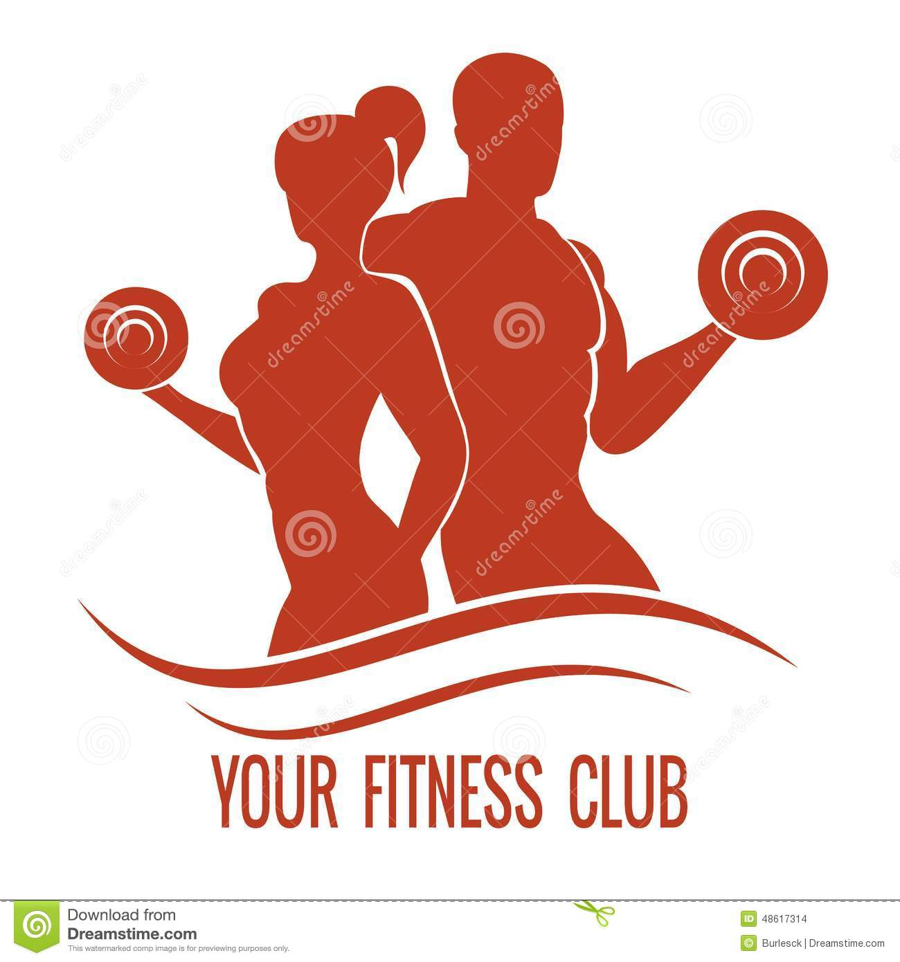 Fitness logo with musc...