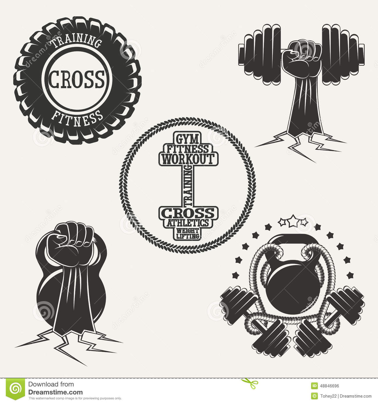 Fitness Logo Set stock vector. Illustration of gymnastics - 48846696 for Fitness Logo Vector Free Download  117dqh